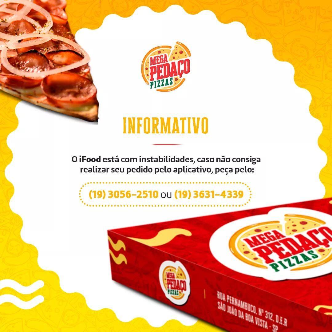 Mega Pedaço Pizzas