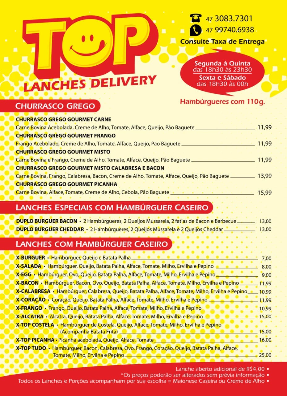 Top Lanches Delivery