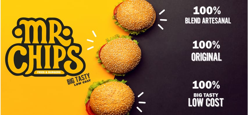 Mr.chips - Burgers & Fritas LANCHES