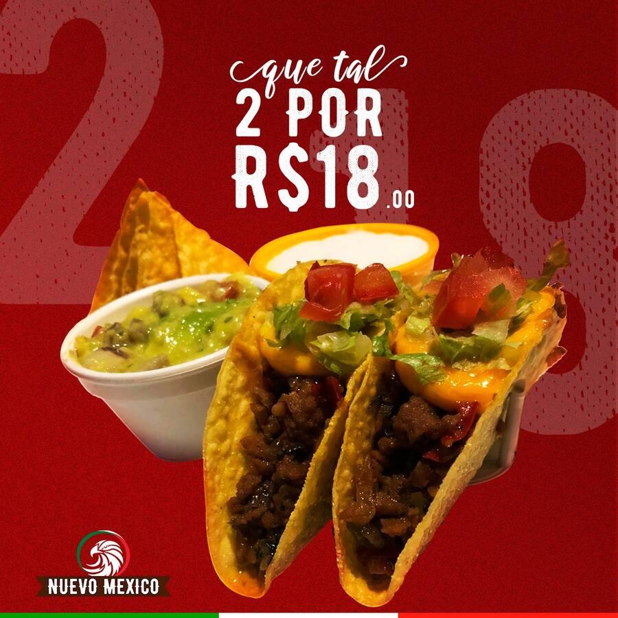 2 tacos por R$ 18