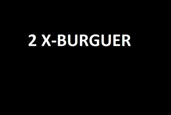 2 x-burguer