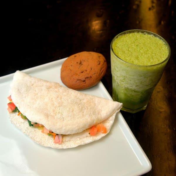 Combo 1 Tapioca + 1 Cookie + 1 Suco verde (Couve, Gengibre, Limão e Abacaxi)