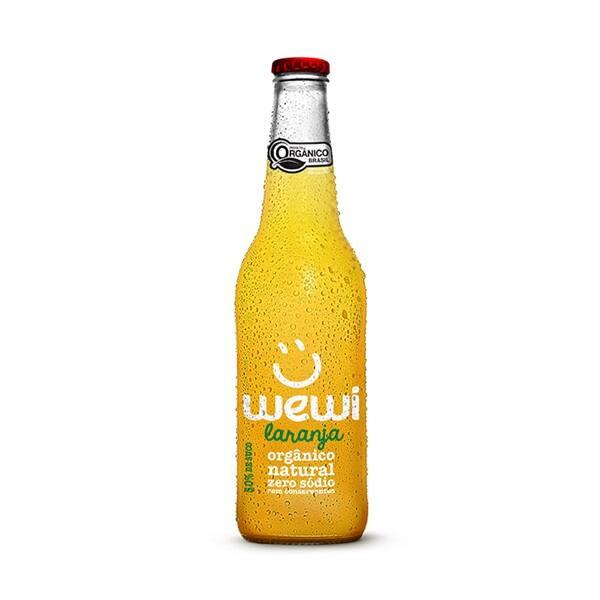 Refri orgânico wewi 255 ml - sabor laranja