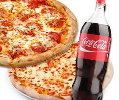 Pizza 16 fatias 40 cm com  coca cola 2 litros ate 4 sabores