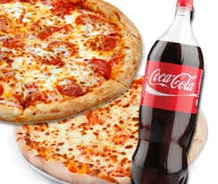 Promoção Pizza super gigante 45 cm + 4 sabores  coca cola 2 litros