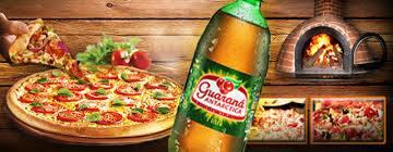Pizza grande 12 fatias 35 cm com guarana antártica 1/5