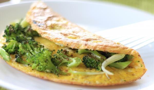 Combo saudável:omelete  recheado com  brocolis + frango + queijo branco  + suco de laranja