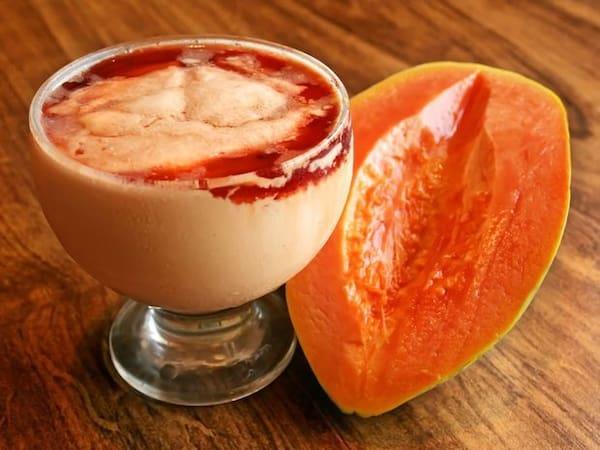 Sorvete de mamão papaya copo de 330 ml