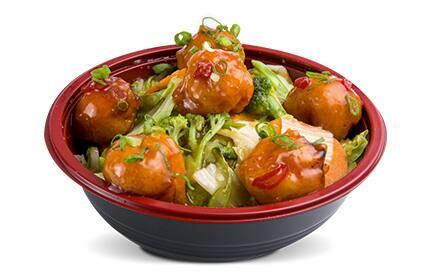 Yakisoba caramel chicken