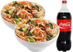 Coca-Cola 2 litros grátis + 2 yakisoba clássico double