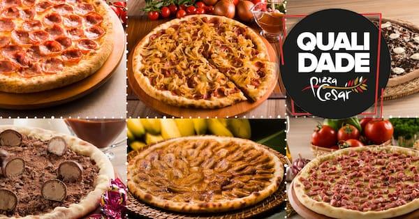 Pizza em dobro 2 sabores - tradicionais, especiais e do chef