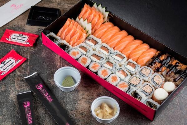 Black box salmão (45 peças).