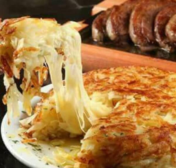 Nº12 batata rosti de frango, pimenta biquinho, mussarela e requeijão (1 pessoa)
