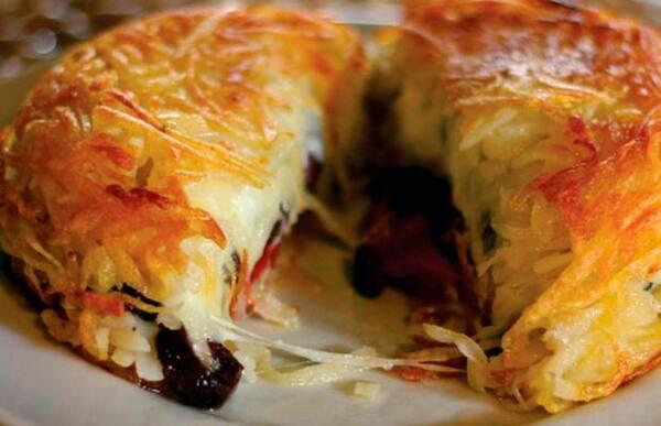 Nº26 batata rosti de filet mignon ao molho gorgonzola(1 pessoa)