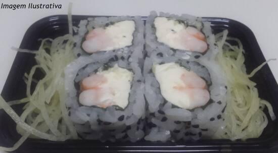 Uramaki camarão filadélfia