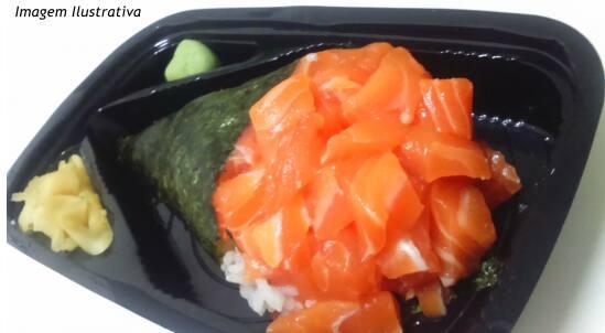 Temaki salmão simples