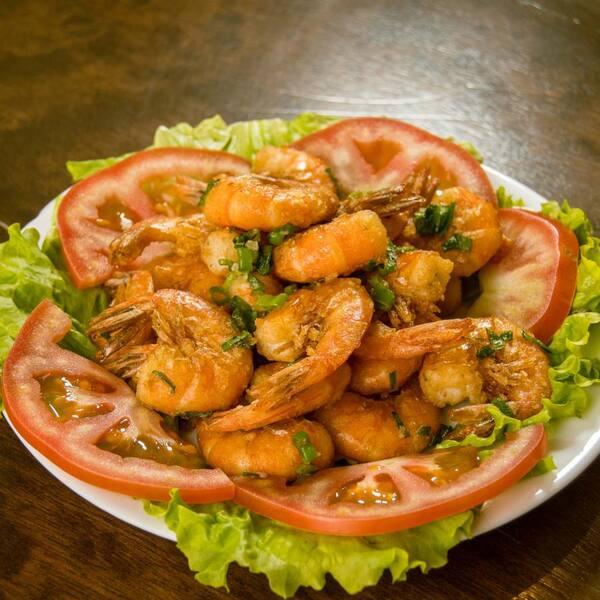 Camarão com verduras pequeno