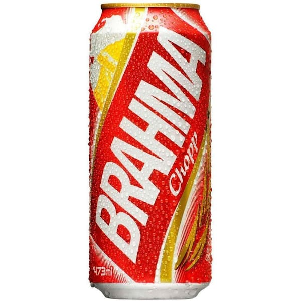 Cerveja Brahma latão.