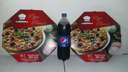 Promoção duas pizzas de 35cm