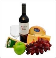 Kit mix queijos e vinho