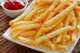 Porcao de batata fritas  media, serve  2 a 3 pessoas