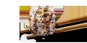 Uramaki salmão grelhado 4 unidades