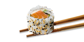 Uramaki salmão 4 unidades