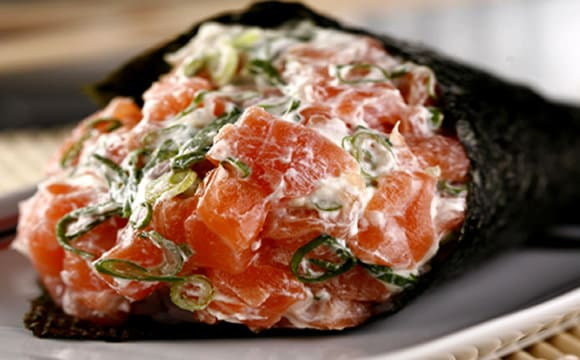 3 - temaki salmão e cheese