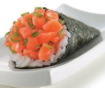Temaki salmão