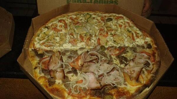Pizza familia 12 fatias s refrigerante