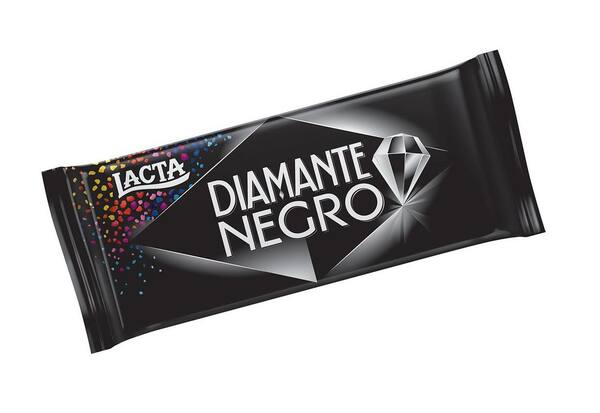 Chocolate diamante negro lacta tablete 90g