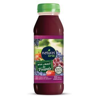 Suco de uva e maçã integral 300ml (Natural one)