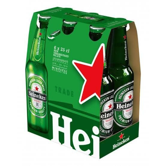 12 und Heineken 330ml long neck