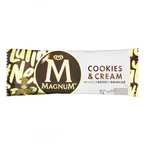 Picolé magnum cookies e cream 77g
