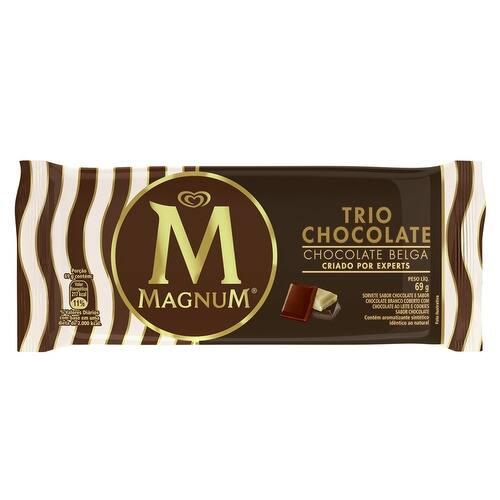 Picolé magnum trio chocolate