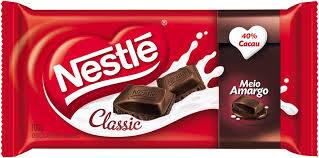 Chocolate meio amargo classic Nestlé tablete 90g