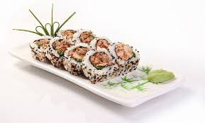 Uramaki pele salmão (4 pçs)