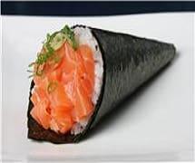 293 - temaki salmão crocante