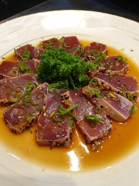 Sashimi tataki de atum
