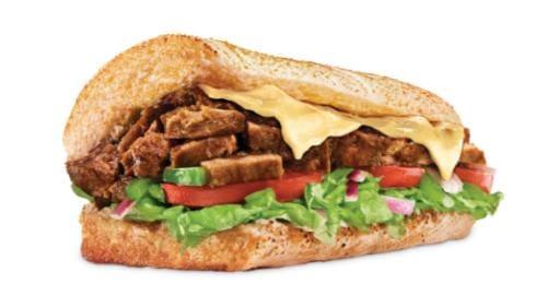 Sanduíche carne e queijo - 15cm