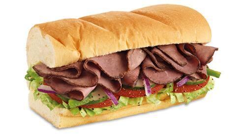 Sanduíche rosbife -30cm
