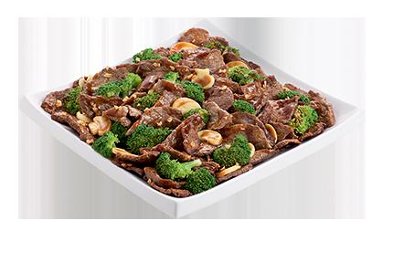 Carne com brócolis oriental