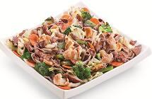 Carne com legumes chop suey