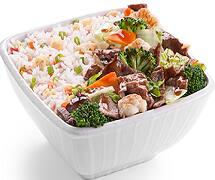 Carne com legumes chop suey executivo