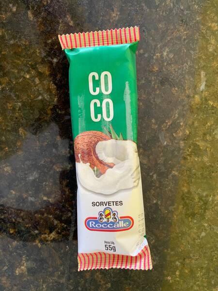 Coco branco picolé
