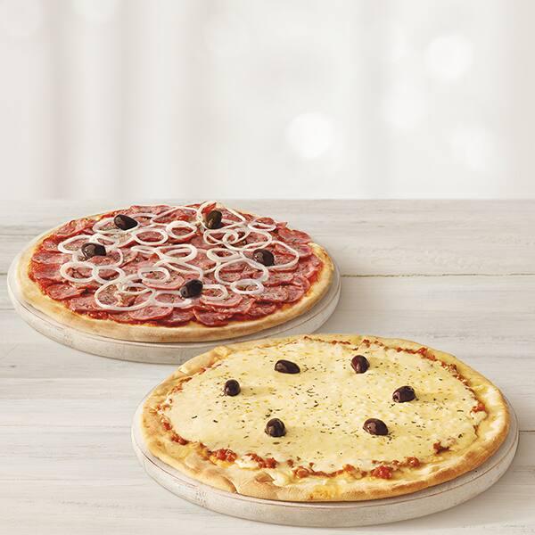 Promoção pizza casadinha (duas pizzas de qualquer sabor)