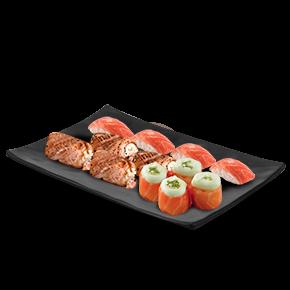 Combo niguiri de salmão maçaricado - 15 peças