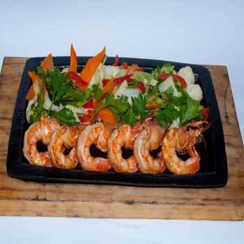 Teppanyaki de camarão