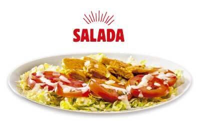 Salada peito de frango grelhado