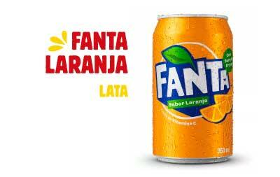 Refrigerante em lata - Fanta laranja